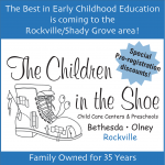 Children in the Shoe daycare center flyer